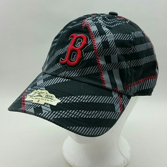 08f3dcb4593 Boston Red Sox Plaid Baseball Cap L 47 Twins Hat